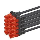 3m - schwarz - 10 Stück CAT.6 Netzwerkkabel Cat6 Netzwerk
