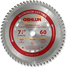 Oshlun SBNF-072560 7-1/4-Inch 60 Tooth TCG Saw Blade with 5/8-Inch Arbor (Diamond Knockout) for Aluminum and Non Ferrous Metals