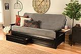 Kodiak Furniture Phoenix Futon Set with Black Finish and Storage Drawers, Included, Marmont Thunder Mattress