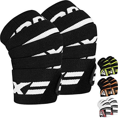 RDX Kniebandagen für Gewichtheben | Genehmigt von IPL und USPA | Elastische Knieschützer für Kraftsport, Bodybuilding | Powerlifting Kniestütze, Fitness Training Sport, Kniegurt Kreuzheben (MEHRWEG)