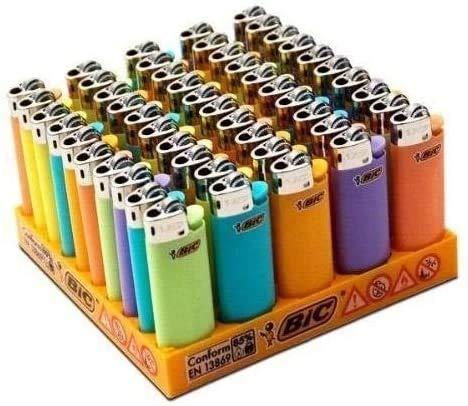 Mecheros Bic Mini de colores (50 unidades)
