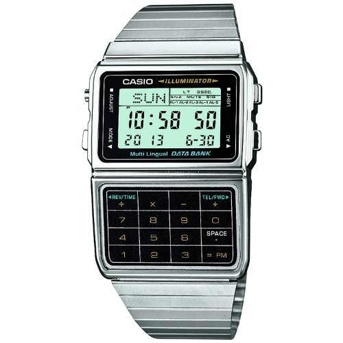 Casio DBC-611-1CR Data Bank Classic Series Quality Watches - Silver