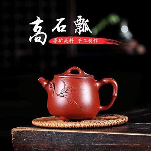 ShanShan Mu - Juego de tetera para el hogar hecho a mano con cucharón de tetera Dahongpao Takaishi Barro morado