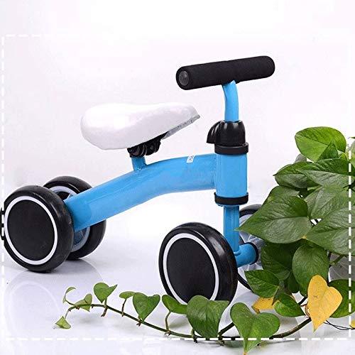 QHY Fahrrad Kinder Laufrad Kleinkind Scooter Schieben Baby Gehhilfe Dreirad 4 Rad Lernen Zu Reiten Vor Fahrrad...