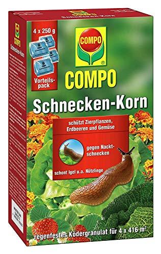 Compo Schnecken-Korn, Streugranulat gegen Nacktschnecken im Vorteilspack, 10 kg (40 x 250 g)