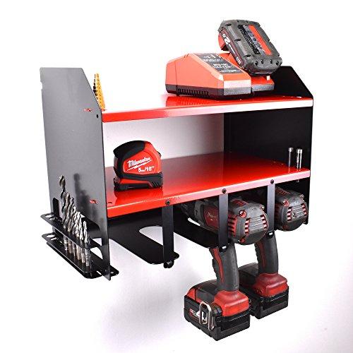 Milwaukee Drill Driver Battery Tool Rack Shelving Storage Workshop Organiser