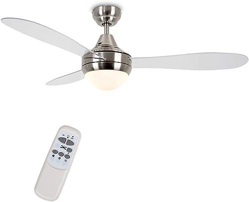 MiniSun ventilateur de plafond moderne et une lumière intégrée - télécommande incluse.