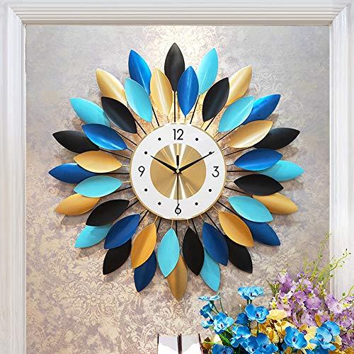 XFSE Reloj de Pared Colgando Reloj Reloj Colgante De La Sala De Estar Moderna Personalidad Minimalista Ambiente De Casa De Moda Creativo Decorativo Reloj De Cuarzo Reloj De Silencio Tamaño De 61 Cm *