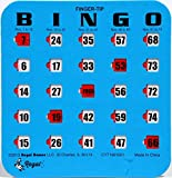 Regal Games Easy Read 4-Ply Finger-Tip Shutter Slide Bingo Cards, Blue (25-Pack)