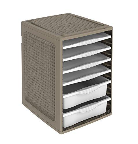 Cassettiera per interno armadi, in plastica, Ri,ordino, Marrone, 34 x 41 x 53 cm