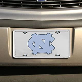 NCAA North Carolina Tar Heels (UNC) Silver Super Stock Metal License Plate