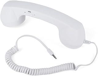 Serounder Auriculares con Cable,Antirradiación Vintage 3.5mm Teléfono Celular con Micrófono y Botón de Respuesta/Colgar para iOS Teléfono Inteligente