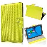 UC-Express Tablet Tasche für Medion Lifetab S10345 S10346 Hülle Schutzhülle Carbon Hülle Bag, Farben:Gelb