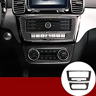 wroadavee Carbon Fiber Console Air Conditioner & CD Panel Cover Trim for Mercedes-Benz GLE W166 Coupe C292 2015-2019