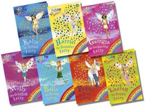 Rainbow Magic Pet Keeper Fairies Collection - 7 Books RRP £34.93 (29: Katie the Kitten Fairy; 30: Bella the Bunny Fairy; 31: Georgina the Guinea Pig Fairy; 32: Lauren the Puppy Fairy; 33: Harriet the Hamster Fairy; 34: Molly the Goldfish Fairy; 35: Pen