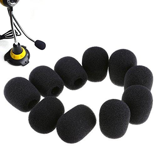 20 Stück Mini Mikrofon Windschutzscheibe Schaum Abdeckung , 30 x 8 mm