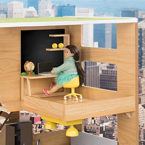 Our Generation Lori Dollhouse - HOME WORKSPACE SET - Fashionable and Fun Furniture for 6 inch Dolls (Dolls Sold Separately)