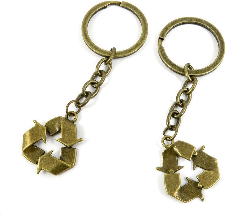 150 Pieces Fashion Jewelry Keyring Keychain Door Car Key Tag Ring Chain Supplier Supply Wholesale Bulk Lots B4QQ6 Circular Cycle Sign