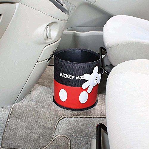 ナポレックス車用ゴミ箱ディズニーダストバケットミッキーアイコンデザイン倒れにくい底形状クリップ取付けでズレ防止NAPLEXWN-284