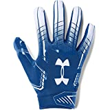 Under Armour mens F6 Football Gloves Royal (400)/White X-Large