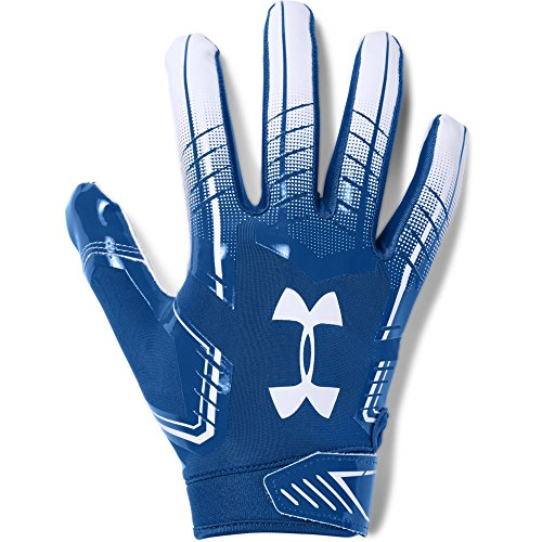 Under Armour mens F6 Football Gloves Royal (400)/White Large