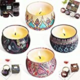 Scented Candle Evergreen Christmas Scent & Fresh Candles Santiago,Huckleberry up to 45 Hour Long Lasting Candle 5.65oz, Travel Tin 100% Soy Wax Gifts for Birthday,Christmas &Valentines Day( 1/Piece)