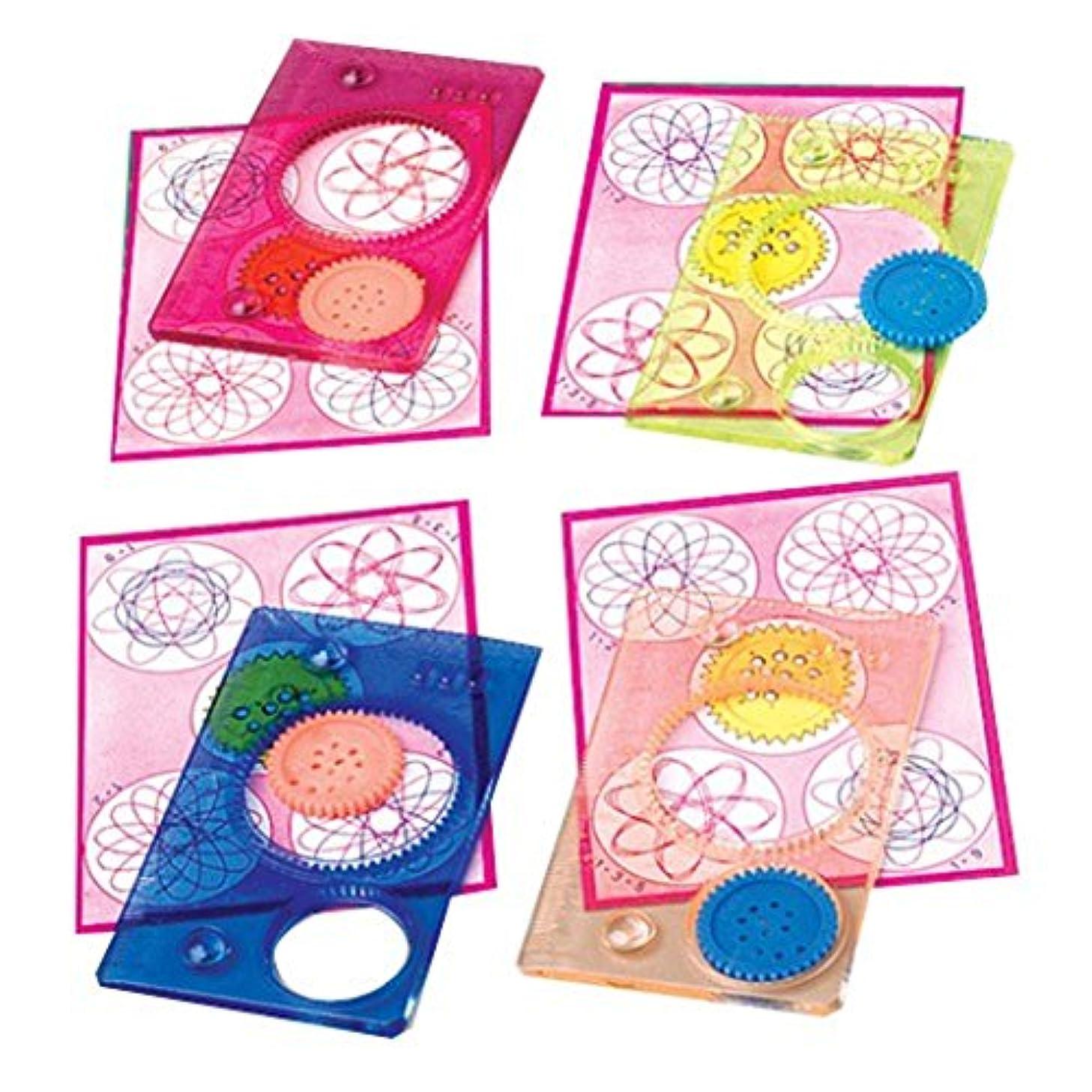 Lot Of 12 Assorted Color Plastic Spiro Spiral Stencils