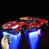 Seasy Juego de iluminación LED para Lego Technic Ferrari 488 GTE, compatible con Lego 42125 (sin set Lego).