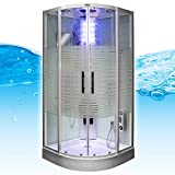 AcquaVapore DTP8068-1010 - Cabina de ducha completa (90 x 90 cm, sellado EasyClean, sellado de los discos: 2 K, sellado de los cristales)