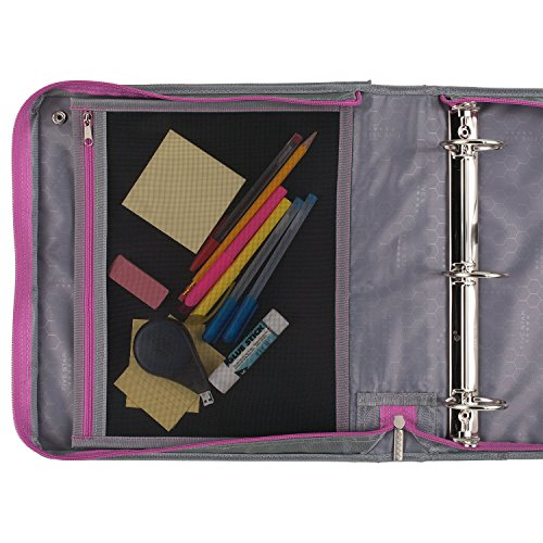 Five Star Sewn Zipper Binder, 2 Inch 3 Ring Binder With 4 Inch Capacity, Assorted Colors, Color Selected For You, 1 Count (28044) Photo #32