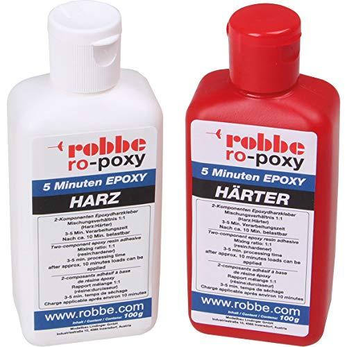 ROBBE RO-POXY 5 Minuten EPOXYDHARZKLEBER 200G JE 100G Harz+HÄRTER