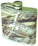 Duck Commander Flask (Duck Dynasty) 6 fl. oz Screw Top Stainless Steel Hip Pocket Liquor Whiskey Camouflage Camo Realtree Max-4 Hunting - Discontinued by Manufacturer
