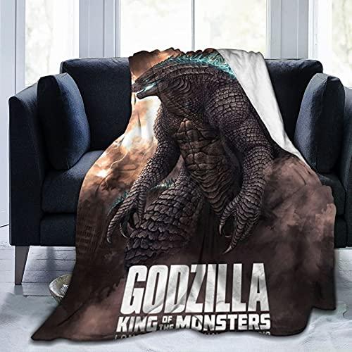 Wteqofy Godzilla Flanelldecke, ultraweiche Fleecedecke, leichte Tagesbettdecke für Schlafzimmer / Wohnzimmer / Sofa / Stuhl / Bett 50x40 Zoll