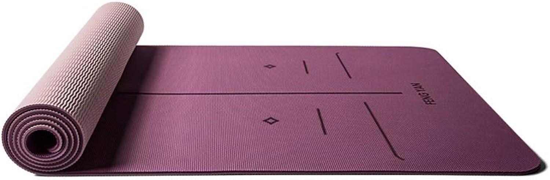 XJLXX Einfarbig Multi-Farbe TPE Yoga komfortable rutschfeste Lange 8mm Dicke Pilates Fitnessmatte Yoga Matte (Farbe   A)
