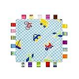 YeahiBaby Doudou per neonato Copertine di conforto sicurezza per bebè con taggies (Aereo)
