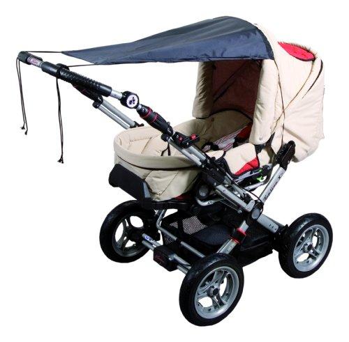 sunnybaby 11272 - Universal Sonnensegel für Kinderwagen & Sportwagen | Sonnenschutz | höchster UV Schutz UPF 50+ | verstellbar | Markisen-Rollofunktion - Farbe: SCHWARZ | Qualität: MADE in GERMANY