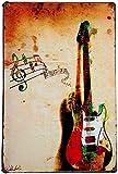Hioni Gitarre Musik Instrument Vintage Blechschild Poster