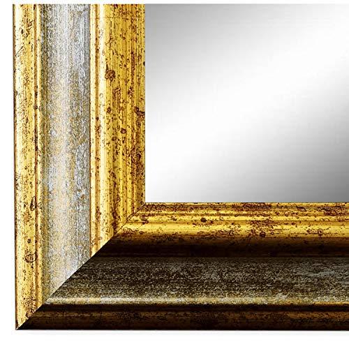 Online Galerie Bingold Spiegel Wandspiegel Badspiegel Flurspiegel Garderobenspiegel - Über 200 Größen - Bari Grau Gold 4,2 - Außenmaß des Spiegels 50 x 140 - Wunschmaße auf Anfrage - Antik, Barock