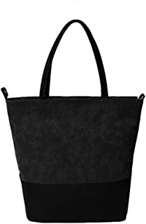 Beach Tote Bag, Hand Bag, ANGUO Large Size Canvas Shopping Bag Large Size Cross-body Tote Bag(Black)