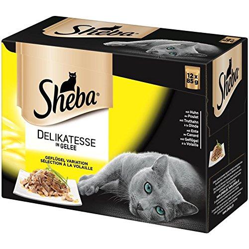 Sheba Geflügel in Gelee im Multipack 4X 12x85g Katzenfutter
