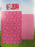 Confección Saymi Nickelodeon Juego sabanas para Cama 105 cm de Paw Patrol La Patrulla Canina Color Rosa