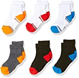 Fruit of the Loom Baby Boys' Ankle 6 Pack Sock, Assorted, Shoe Size: 1.5-4 (6-18 months)