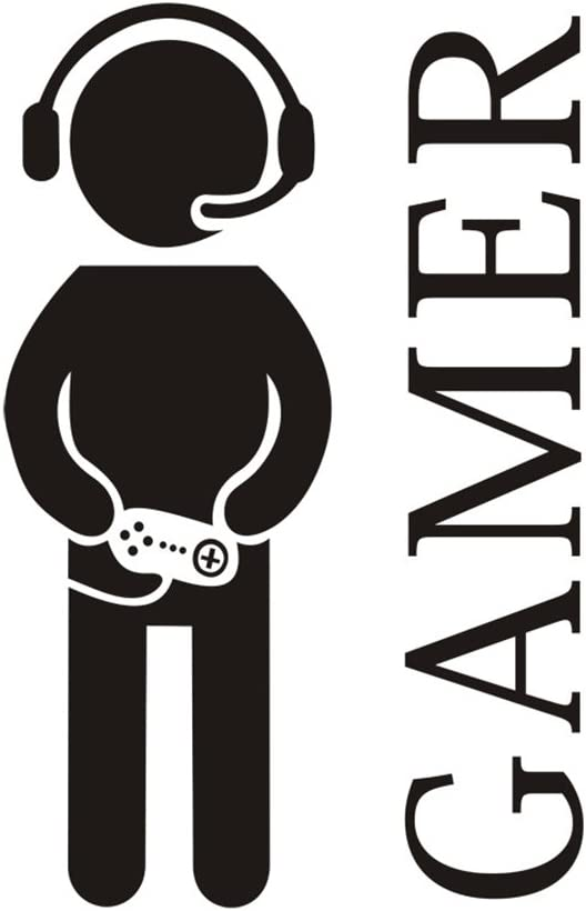 Gamer with Controller Wall Decal Translated Sticker Albuquerque Mall V Boy Game