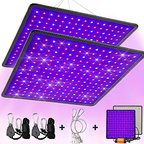 SEAMETAL 2-Pack LED Grow Light 45W Indoor Plant Grow Lamps Red and Blue Full Spectrum LED Hydroponic Growing Lamp for Greenhouse Seedlings Flowers Vegetables
