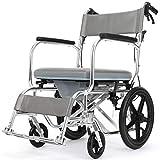 Xink-Wheelchairs Aseo Silla de Ruedas Ancianos Carretilla Plegable Ligera aleación de Aluminio con discapacidad Scooter de múltiples Funciones Portable Puede soportar 200 kg