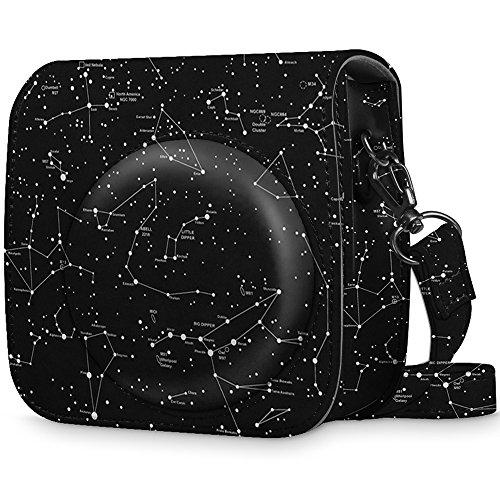 Fintie Tasche für Fujifilm Instax Mini 8 / Mini 9 Sofortbildkamera - Premium Schutzhülle Reise Kameratasche Hülle Abdeckung mit abnehmbaren Riemen, Sternbild