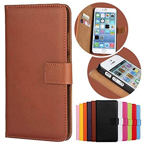 Roar Handy Hülle für Motorola Moto G (G1, 1.Generation), Handyhülle Braun, Tasche Handytasche Schutzhülle, Kartenfach & Magnet-Verschluss