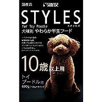 (まとめ買い)サンライズ スタイルズ 10歳以上用 トイプードル用 600g(100g×6パック) 犬用 ドッグフード 【×5】