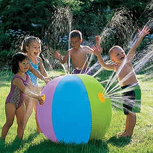MNVOA Beach Balls Classic Rainbow Water Sprinkler Splash Spielzeug Für Kinder Pool Party Outdoor Garten Hinterhof Aktivitäten Tragbar