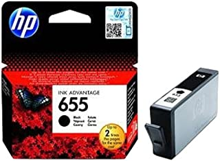 HP 655 Black Original Ink Advantage Cartridge - CZ109AE